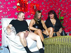 German MILF Old and Young Teen Threesome
