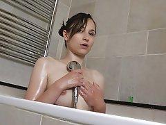 Nipples Shower Skinny Small Tits Teen