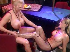Lesbian Foot Fetish Big Boobs Blonde Lingerie