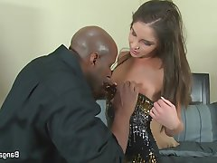 Brunette Creampie Interracial Pornstar Teen