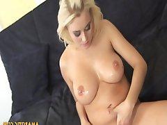 Blonde Cum in mouth Masturbation