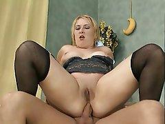 German Anal BBW Blonde Creampie