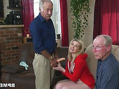 Blonde Blowjob Teen Old and Young