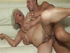 Hairy Granny Dildo