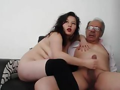Amateur Mature Handjob Old and Young Teen