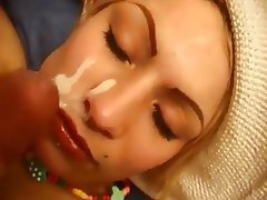 Amateur Babe Facial Old and Young POV