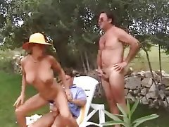 Anal Double Penetration German Outdoor Threesome