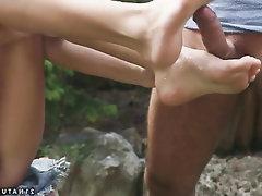 Babe Blowjob Feet Teen