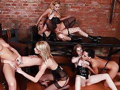 Babe Group Sex Lesbian Strapon