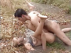 Amateur Blonde German Outdoor Facial