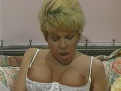 Anal Blonde Double Penetration Pantyhose Threesome