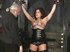 BDSM Brunette Mature Lingerie