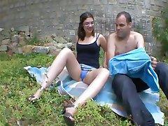 Amateur French Outdoor Voyeur